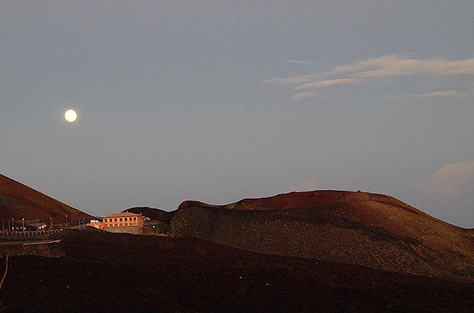 Panorama tour Etna al tramonto