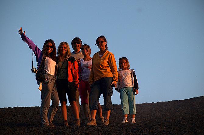 Gruppo escursione etna al tramonto