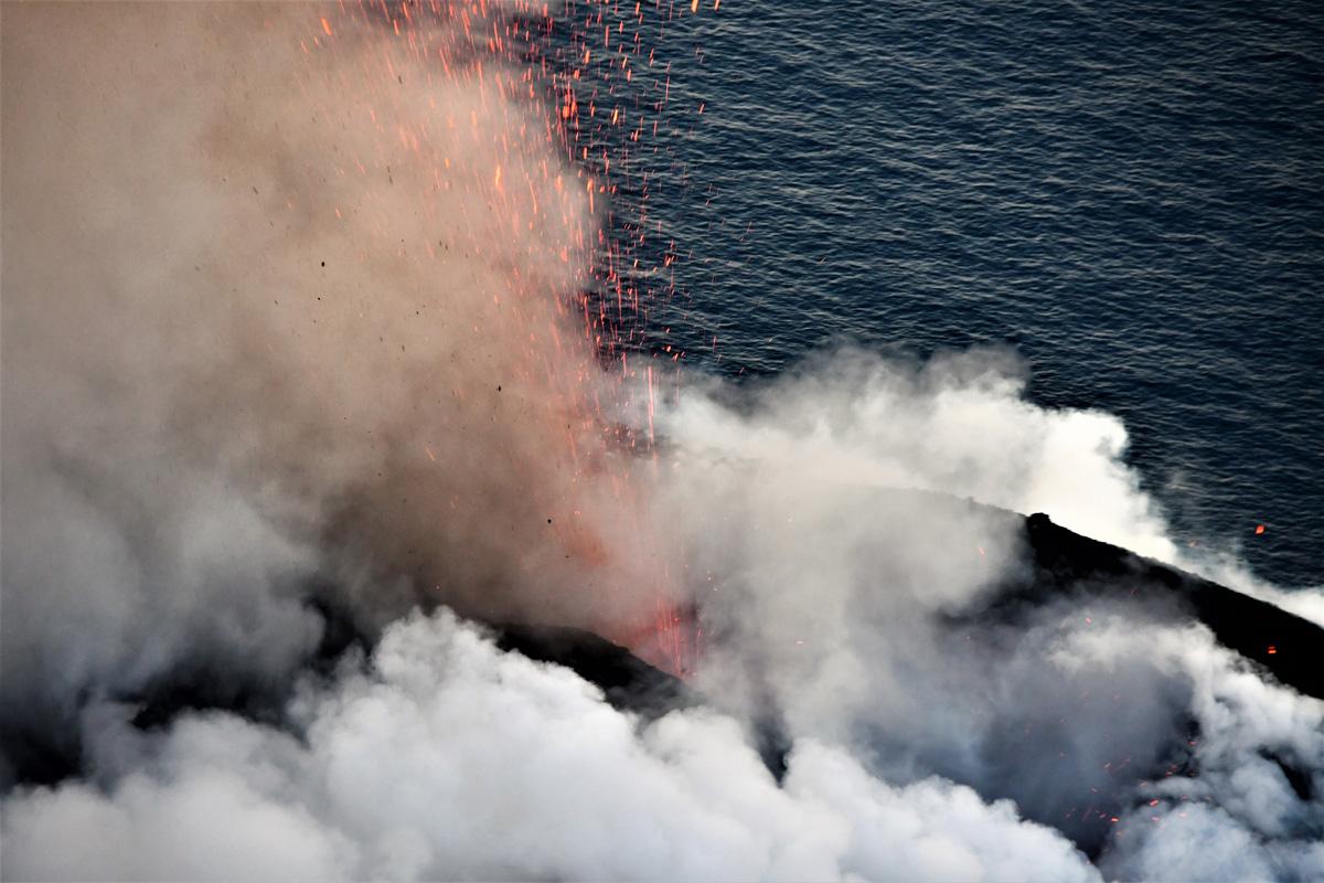 Attività del vulcano Stromboli